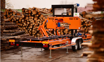 WIREX CZ-1/M Horizontal Mobile Band Sawmill With Full Hydraulic Electrical Feed • 15,200£