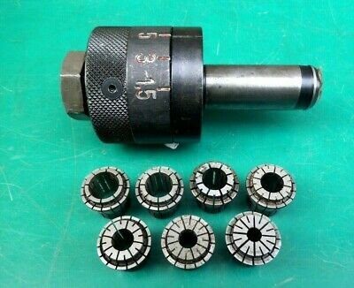 Engineers Cnc Pafix Angst Tapping Chuck 35-2036 & Collets #1 • 59£