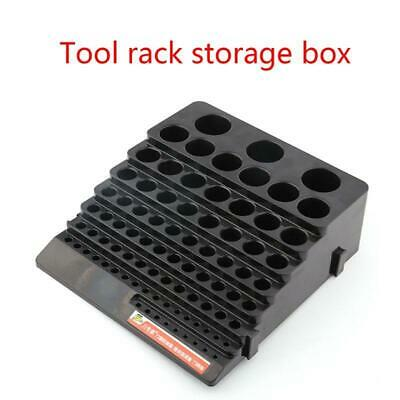 Black Drill Bit Storage Box Milling Cutter Drill Finishing Holder Organizer Case • 7.47£