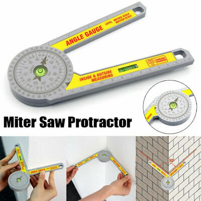 Angle Finder Miter Saw Protractor Measuring Ruler Tool Goniometer Pro Durable  • 6.99£