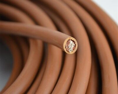 8 GAUGE AWG 10mm² BROWN EARTH CABLE • 9.99£