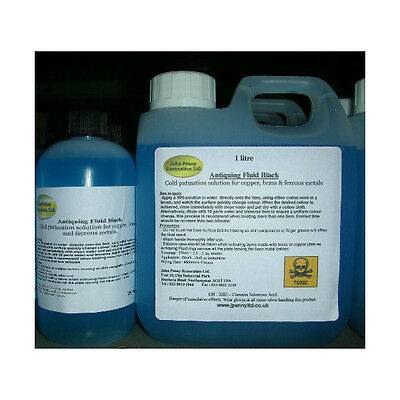 Metal Antiquing Fluid - Patination Solutions For Various Metals • 10.95£