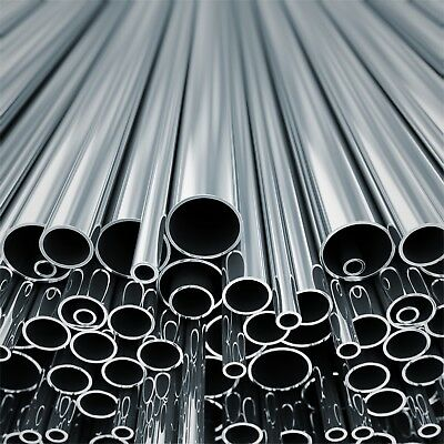 Stainless Steel Round Tube Pipe  Many Sizes And Lengths Metal Bar Rod Strip • 11.99£