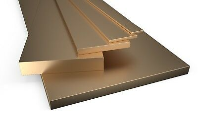 Brass Flat Bar Plate Strip Many Sizes And Lengths Metal Bras Solid Rod Section  • 9.99£