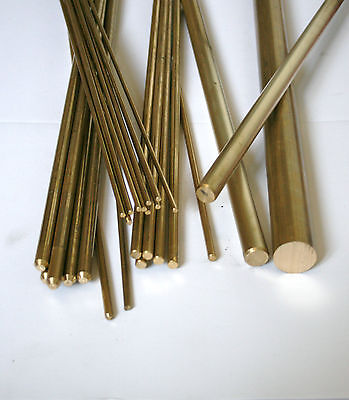 Brass Round Bar / Rod Model Making Various Sizes 2 Mm - 30 Mm  • 32£