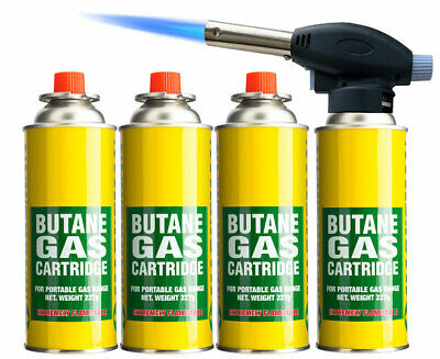 Blow Torch Butane Flame Thrower Burner Welding Auto Ignition Blowtorch Weed BBQ  • 14.99£