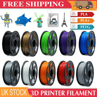 3D Printer Filament Printing Printing 1.75mm Accuracy Makerbot PLA  PLA+ PETG UK • 12.99£
