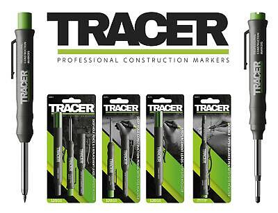 TRACER Deep Hole Carpenters Pencil, Refill Graphite/Coloured Leads,Or Marker Pen • 17.40£