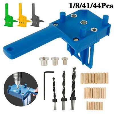 1/8//44Pcs Woodworking Doweling Jig Drill Guide Wood Dowel Drill Hole Tool HOT • 11.29£