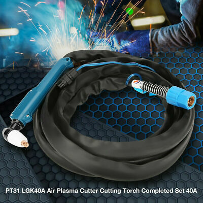 PT31 4m/13ft Air Plasma Cutter Torch Completed Set Cutting 12mm Fit CUT-40 LGK40 • 17.18£