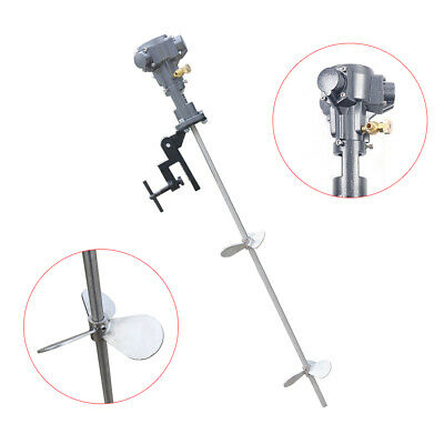 Portable Pneumatic Paint Mixer Air Drill Paint Blender Agitator Stirrer +Bracket • 143.09£