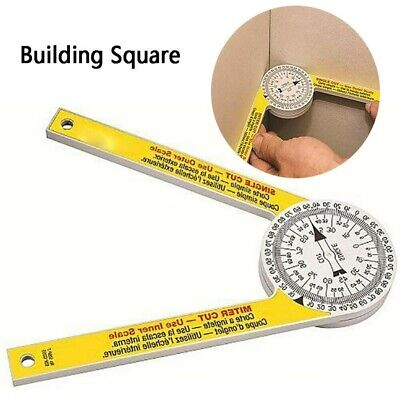 Angle Finder Ruler Miter Saw Protractor Engraved Drawing Measuring Level Tools • 6.29£