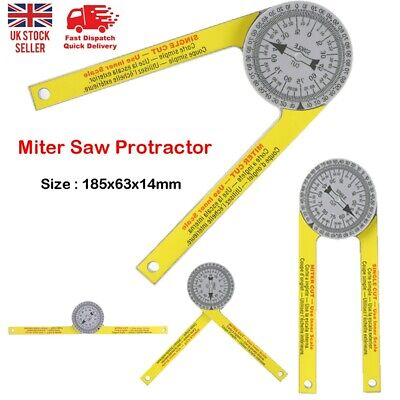 1Pcs 505P-7 Gauge Angle Finder Arm Ruler  Pro Miter Saw Cut Protractor Household • 6.79£