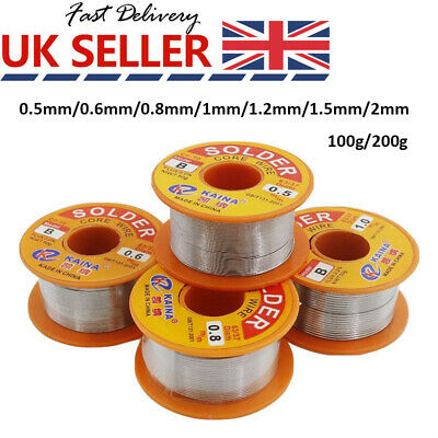 63-37 Tin Lead Rosin Core Solder Wire For Electrical Solderding 0.5-2mm 200g UK • 15.59£