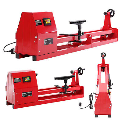 Industrial Lathe Metal Bed Variable Speed Wood Lathes 350 W 1M Woodworking Spin • 159.95£