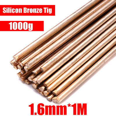 1000g Silicon Bronze Tig Brazing Filler Rods 1.6mm Brass Weld 100cm/39.4  Length • 22.63£