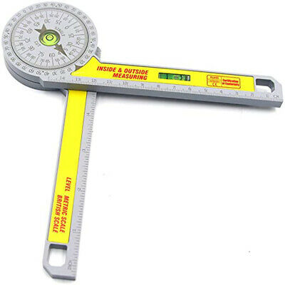 Angle Finder Goniometer Ruler Miter Drawing Measuring Level Tools Saw Protractor • 7.78£