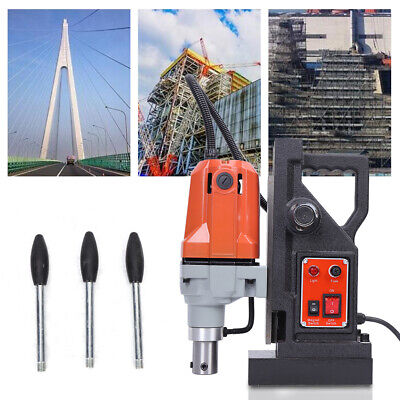 MD40 Electric Metal Magnetic Drill Press Drilling 12-40mm 550RPM 220V DHL • 189£