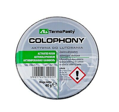 40g - High Purity, Quality Solid Solder Rosinx , COLOPHONY , Activated Rosin • 2.49£