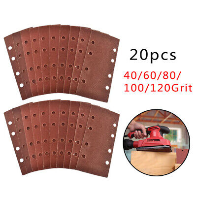 8 Dust Holes Sandpaper Pads 93*190mm Mixed Aluminium Red Brown Professional • 9.22£
