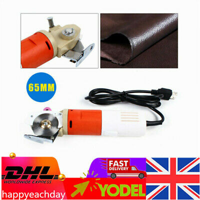 Electric Round Cloth Cutter Fabric Cutting Machine 65mm Blade Leather Cutter  • 45.50£