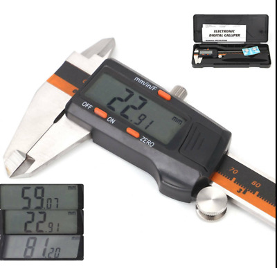 Professional 150mm (6 ) LCD Display Digital Vernier Caliper Gauge Precision Tool • 14.74£