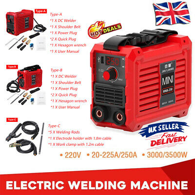 Welder Inverter MINI MMA 225/250Amp LCD Display Portable Stick Welding Machine • 77.99£