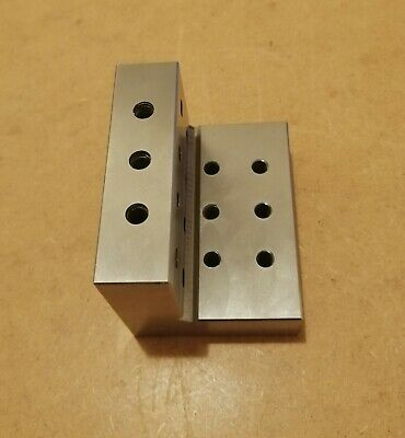 Engineers Precision Angle Plate 2 1/4 X 2 1/4 X 3   With 8mm Tapped Holes • 15£