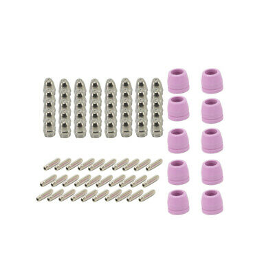 80Pcs WSD-60 Plasma Cutter Torch Consumables Electrode Cup Tip Nozzles • 26£