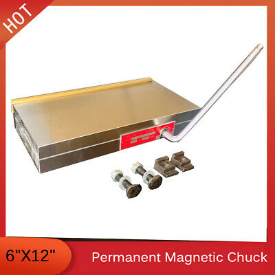 6''x12'' Fine Pole Magnetic Chuck Machining Workholding Permanent Surface Grind • 129.17£