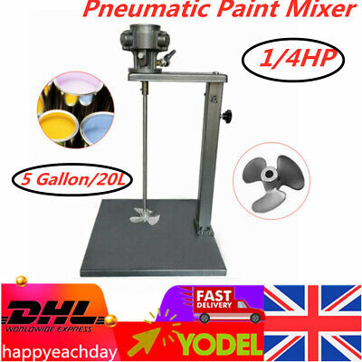 1/4HP Pneumatic Paint Mixer 5 Gallon Air Paint Mixing Tool W/ Stand 20L Tank  • 110.40£