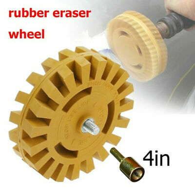 Car Decal Removal Eraser Wheel Rubber Disk Drill Adapter Sticker Remover • 12.56£