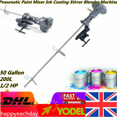 50 Gallon 200L 1/2 HP Pneumatic Paint Mixer Ink Coating Stirrer Blender Machine  • 149£