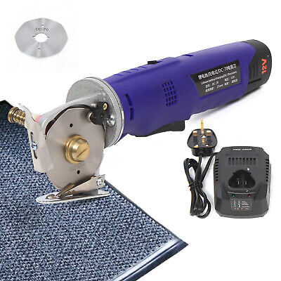 Electric Cloth Cutter Handheld Rotary Fabric Leather Carpet Cutter W/ Battery • 76.07£