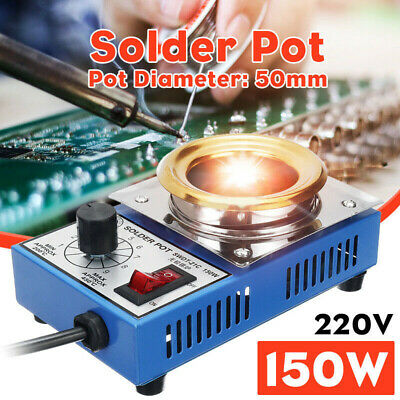 500g Capacity Solder Pot Stainless Steel Plate Thermal Effect New Practical • 19.43£