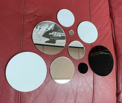 Perspex / Acrylic Discs - ( White / Black / Mirror ) 3mm And 5mm • 0.99£