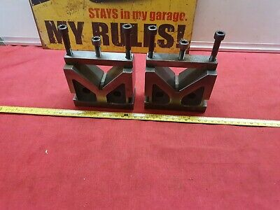 Pair Of Vintage Vee Blocks In Excellent Used Condition Quality Steel Sizes Below • 85£