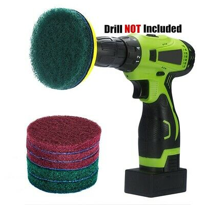 4 Inch Drill Power Brush Tile Scrubber Scouring Pads Cleaning Kit, Heavy Duty • 6.99£