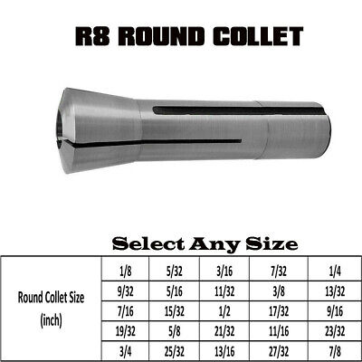 7/16- 20 Drawbar Thread 1/8 To 7/8 R8 Round Collet Hardened And Ground New • 11.60£