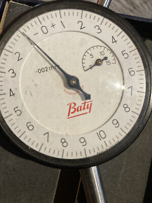 Baty Dial Gauge / Indicator, 0.002 Mm Reading • 25£