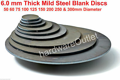 6mm Thick Disc ROUND Circle CR3 MILD STEEL Sheet Plate DISCS 1.5 - 6  Diameter  • 3.30£