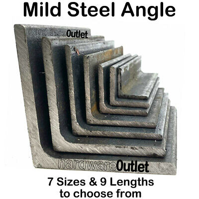 Mild Steel ANGLE Iron 20 Mm - 75 Mm Bandsaw Cut From UK Metal Distributor • 5.83£
