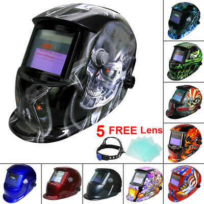 Auto Darkening Welding Mask Helmet Solar Powered Welders ARC TIG MIG Grinding UK • 25.47£