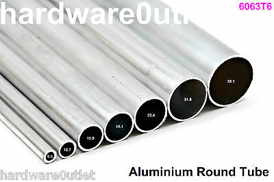 Round Aluminium TUBE Pipe Bar - 8 Diameters Available & 9 Cut Lengths Available  • 5.17£