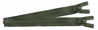 Pair Of Green YKK PLCE Side Pouch / Bergen Zips - To Use On Rucksack Or Pouch • 4.50£