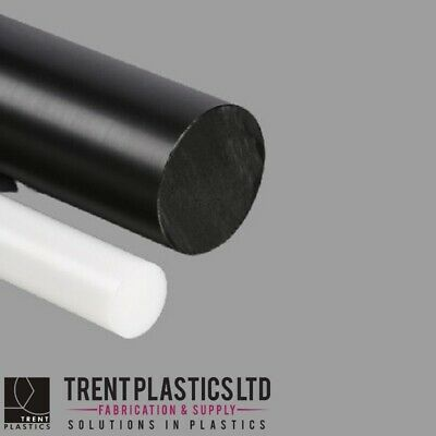 POLYETHYLENE High Density ROD Black Natural PE HDPE Plastic Bar White Diameter • 30.03£