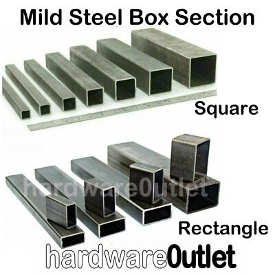 1 MTR / 1000 Mm Length Mild Steel SQUARE Or RECTANGLE BOX Section Tube Pipe  • 11.77£