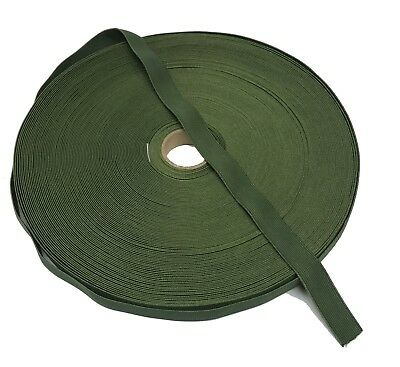 19mm / 0.75  Olive Green Military Specification Elastic ( Military Webbing MTP • 1£