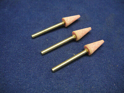 3 X Lukas Shape B53 Mounted Point Pink Grit 8mm X 16mm Grinding Stone 3mm Shank • 3.99£