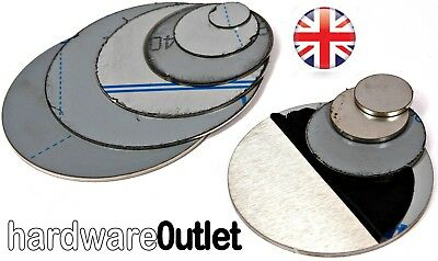 Brushed STAINLESS STEEL Blank Round DISC 304 Grade Sheet Metal Plate Laser Cut • 4.40£
